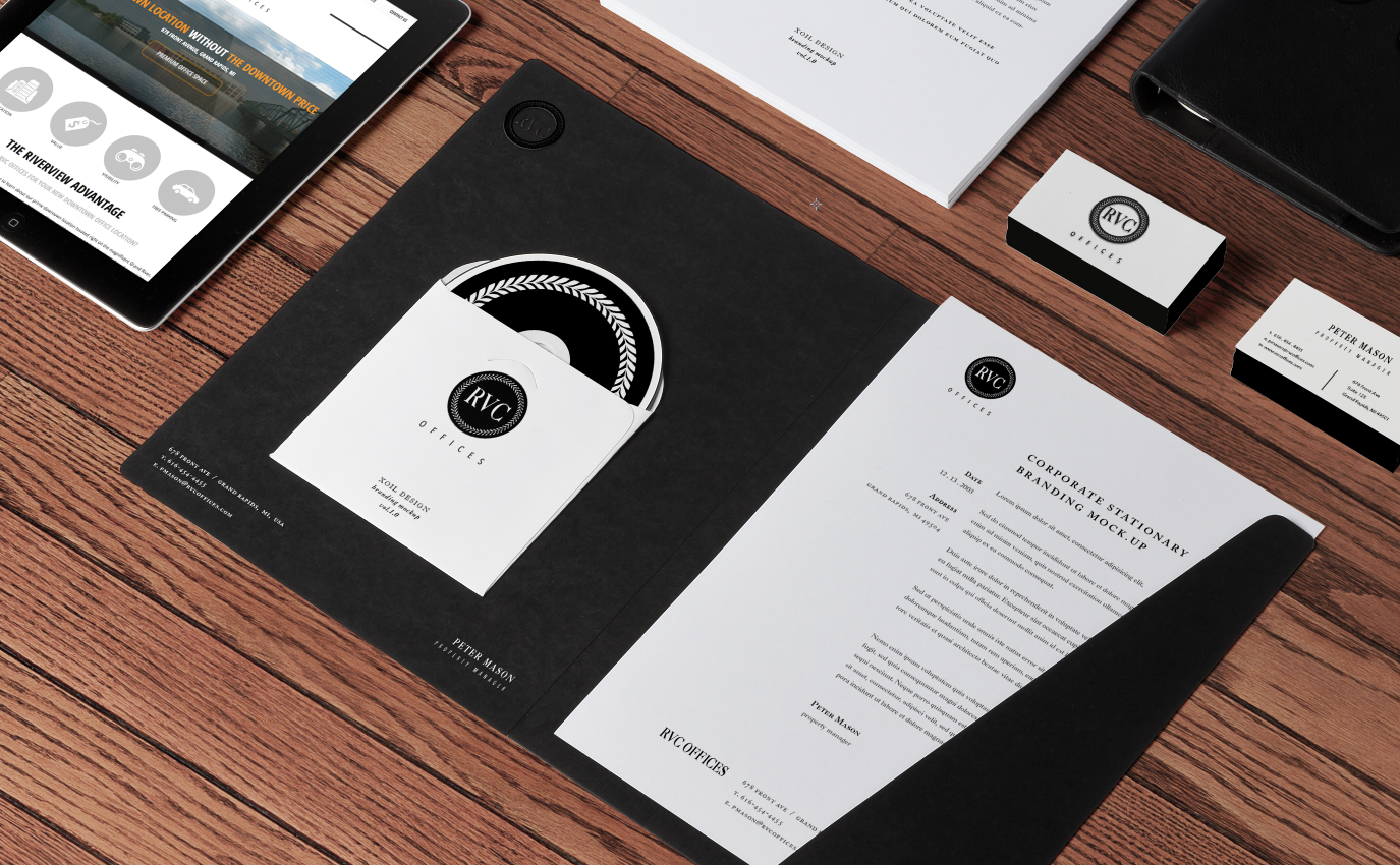 Brand identity mock up by Xoil Design