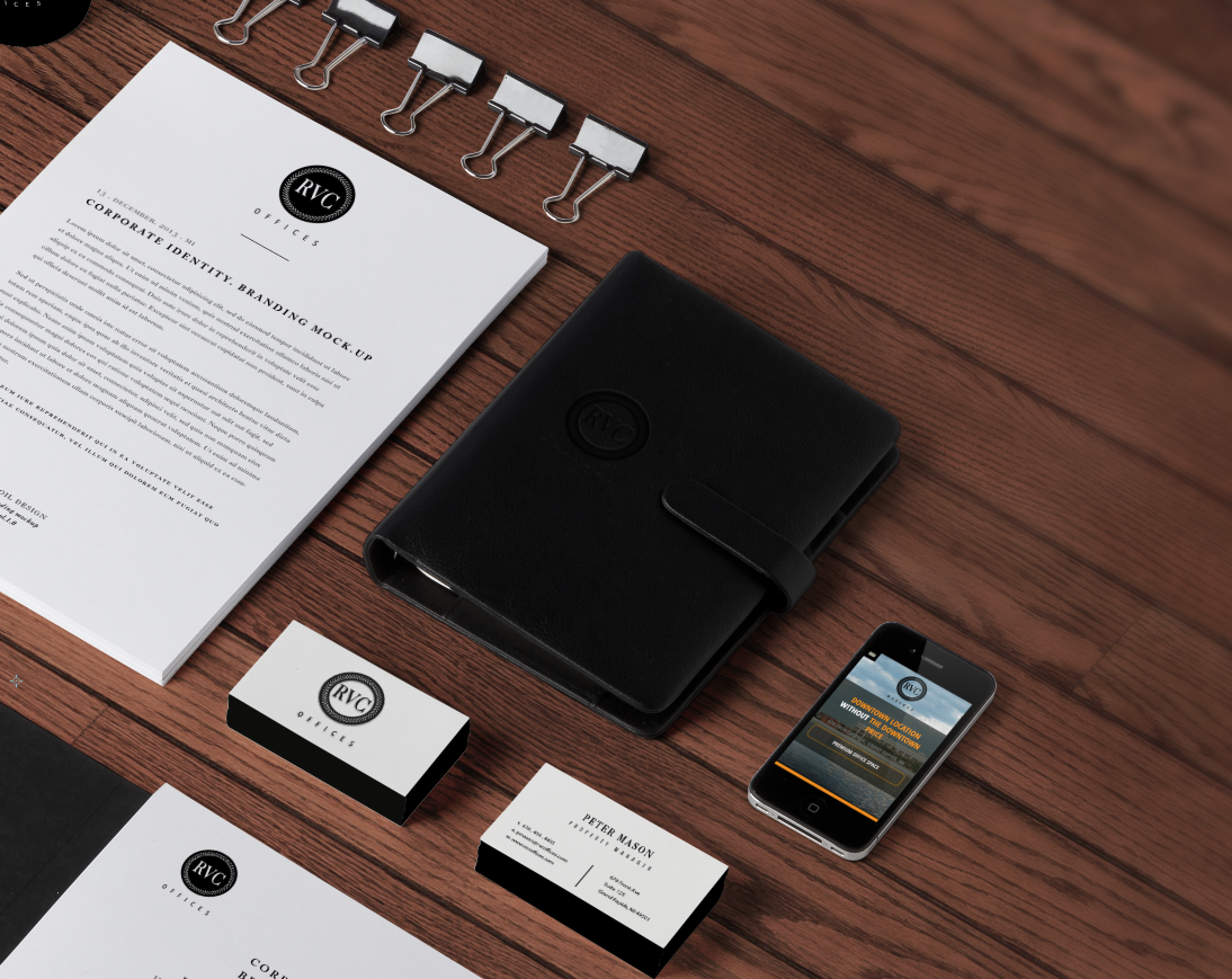 Branding identity mock up designed by Xoil Design