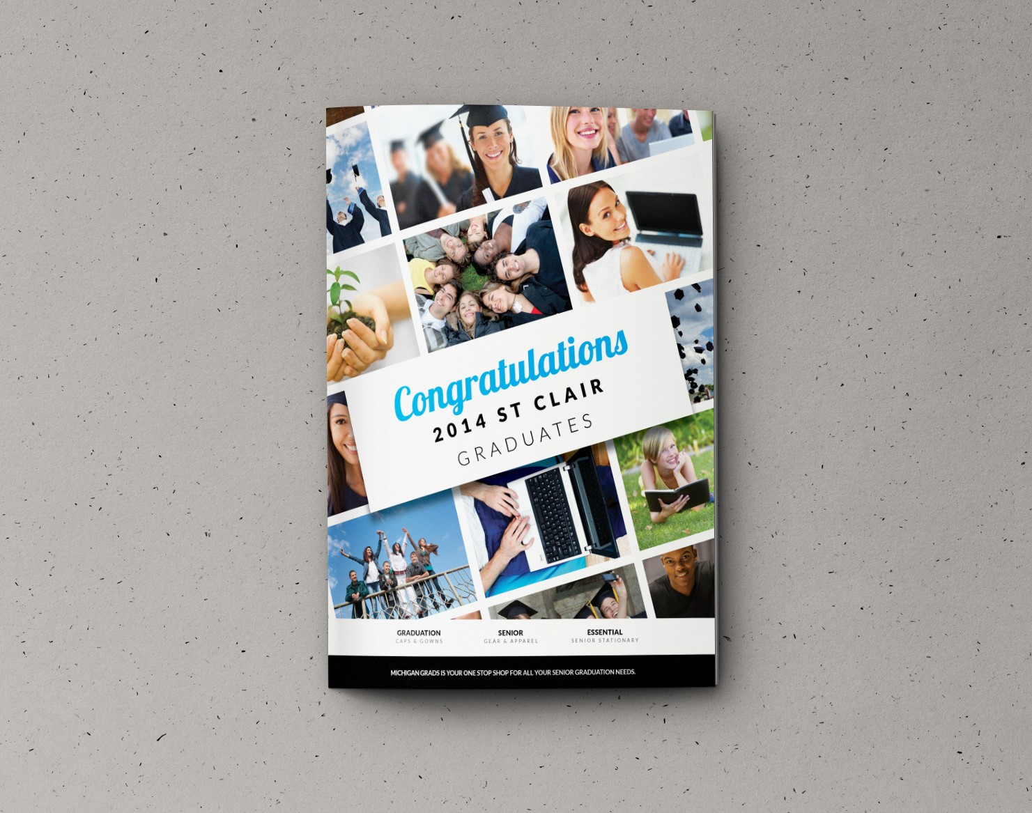Michigan Grads Product & Apparel Catalog designed by Xoil Design