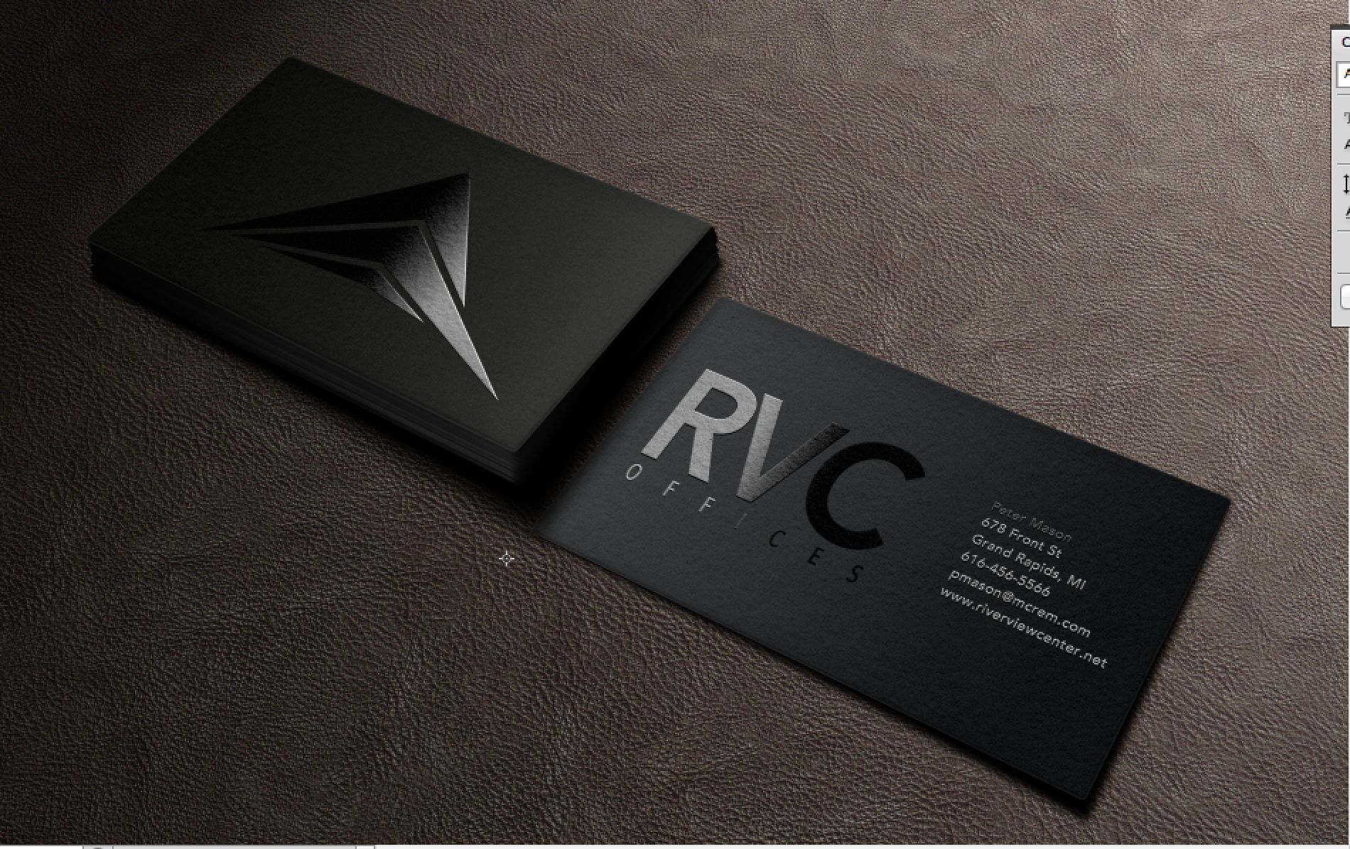 RVC Offices business cards designed by Xoil Design