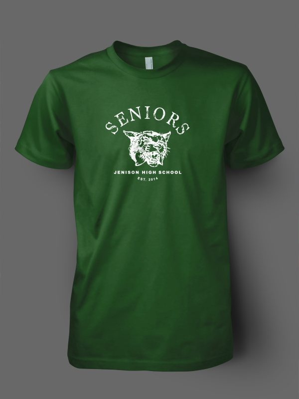 Jenison high school senior t-shirt design by Xoil Design