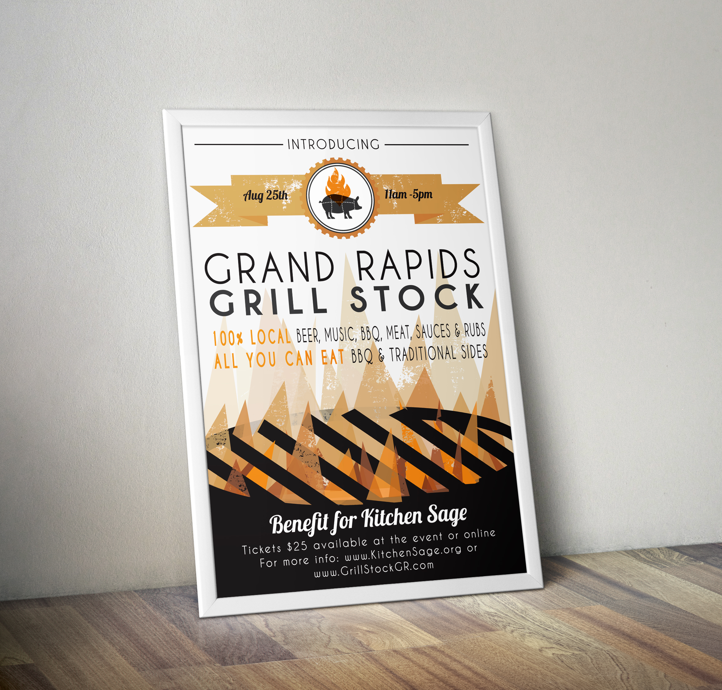 Grand Rapids first annual Grill Stock BBQ sponsored by local breweries and restaurants designed by Xoil Design