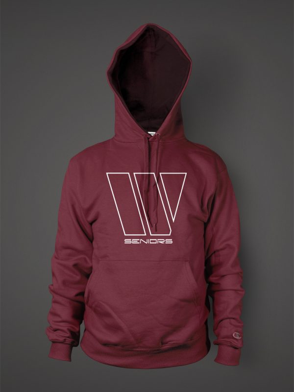 Western International high school senior graduation hoodie designed by Xoil Design