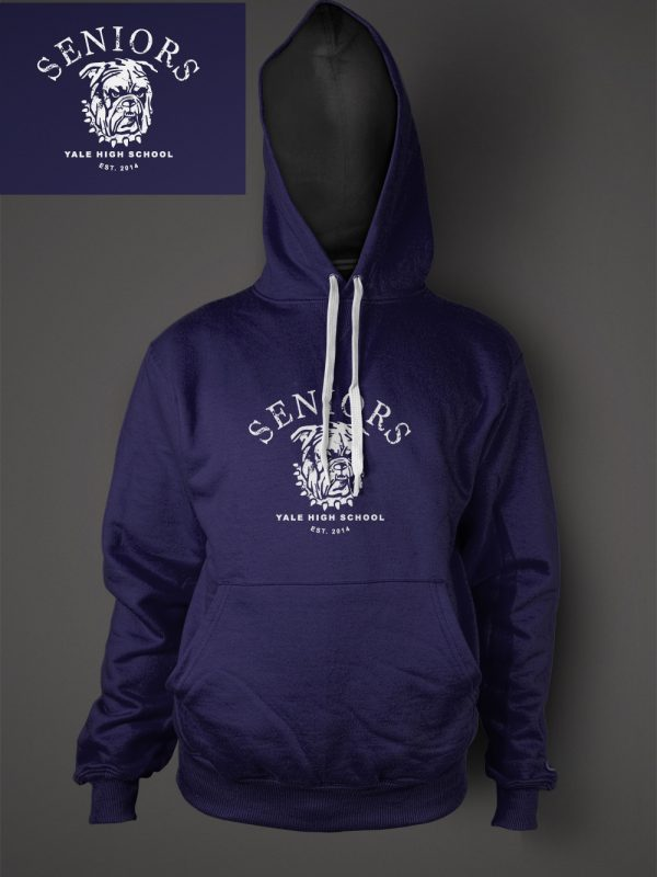 Yale high school senior graduation hoodie designed by Xoil Design