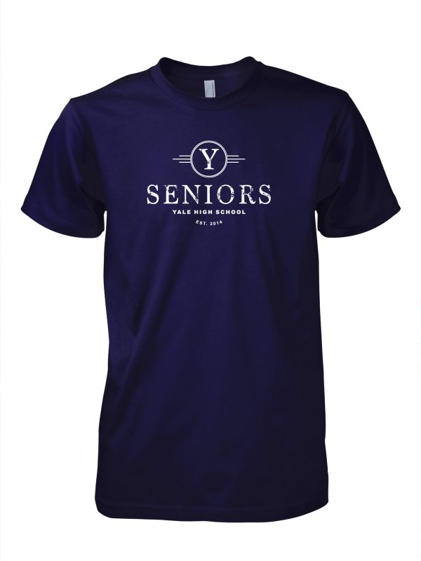 Yale high school senior graduation t-shirt designed by Xoil Design